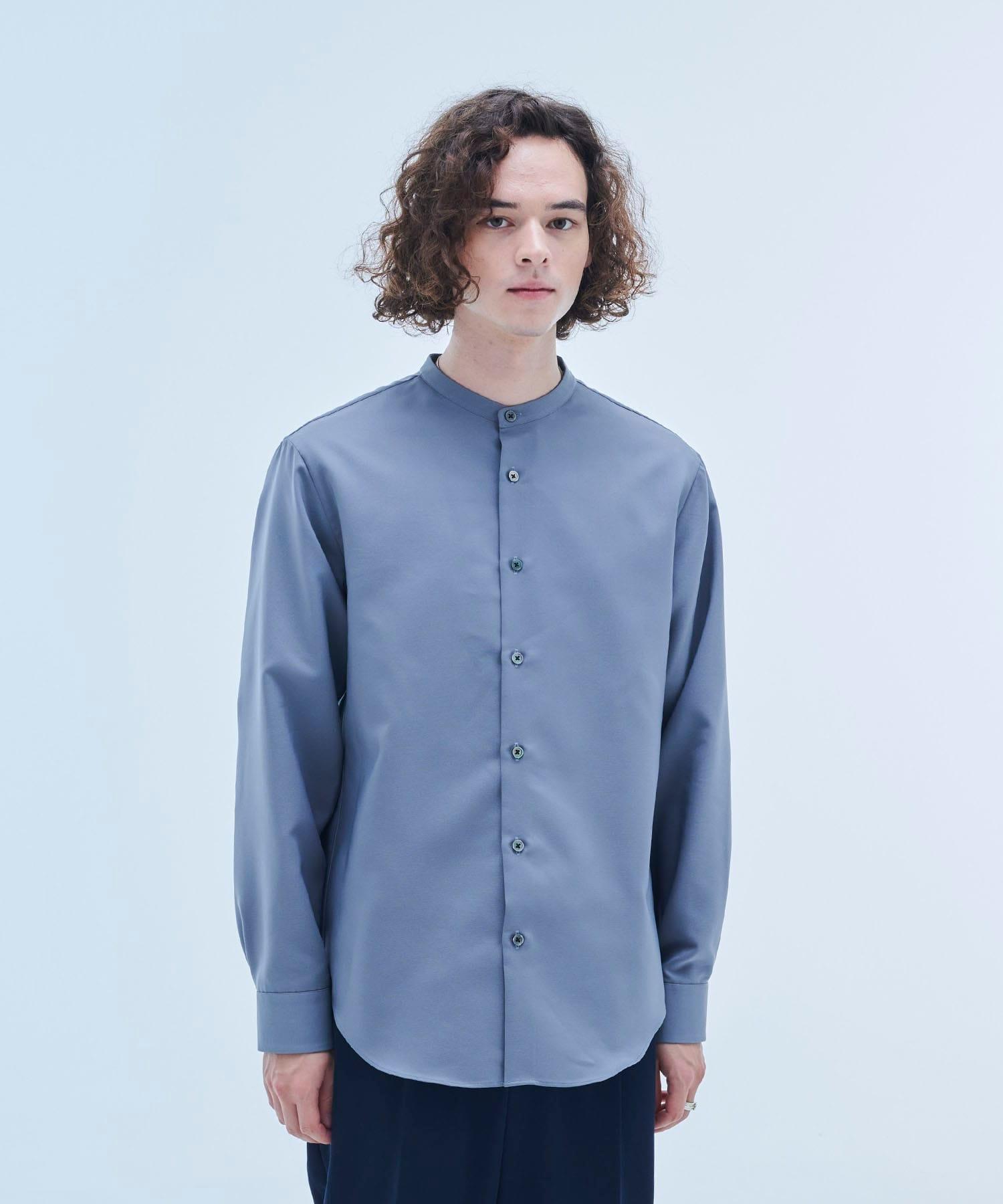 【OnE】ストレッチダブルクロスバンドシャツ